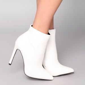 White Ankle Booties